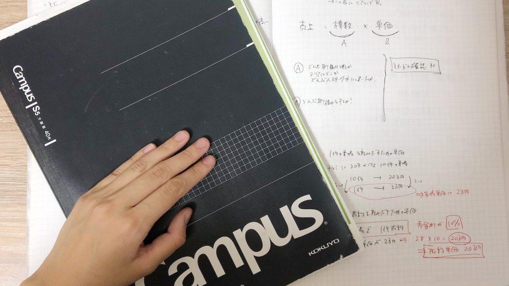 当時のノート