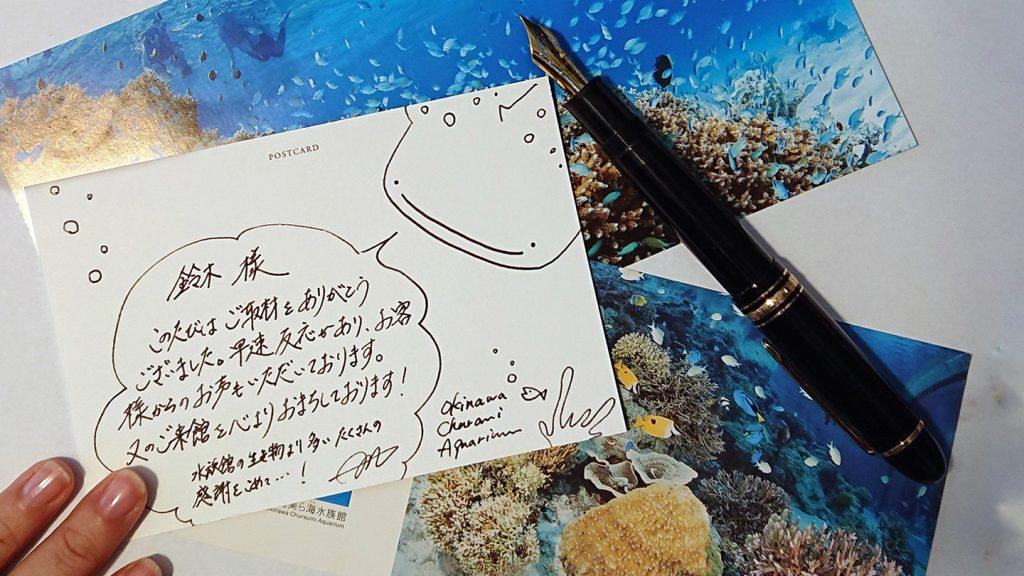 水族館時代にメディアの方へ書いていたお礼状の再現