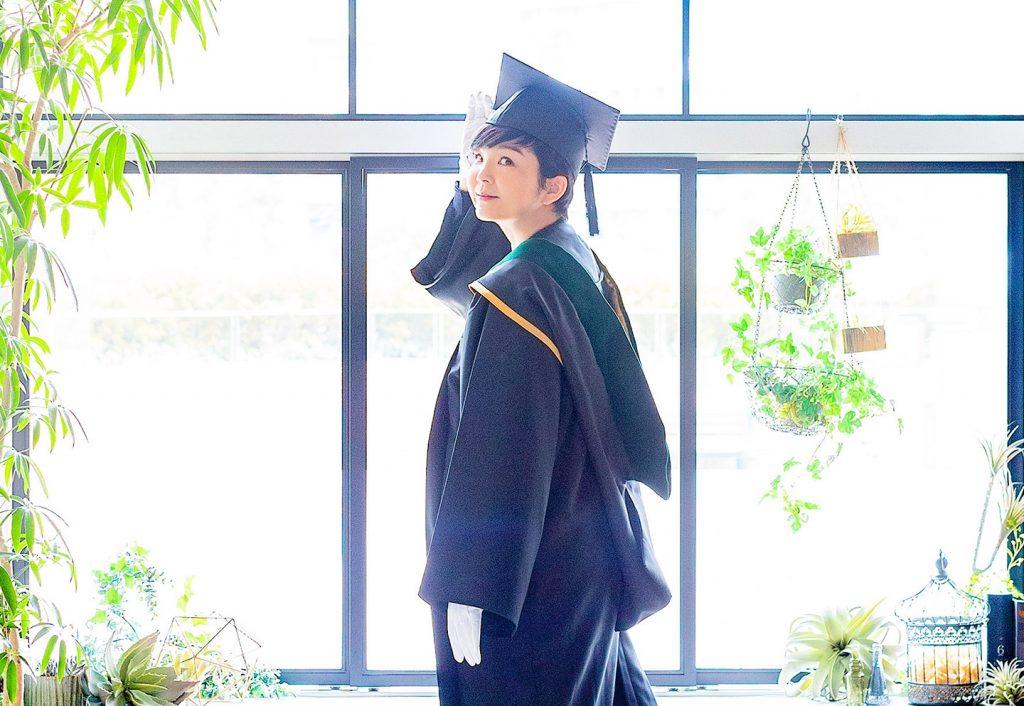 大学院を卒業したときの一枚