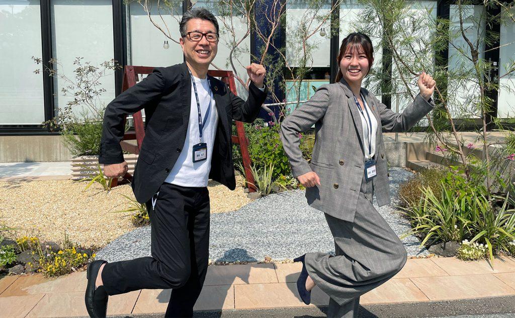 大英産業専務取締役 宮地弘行さんと 人財開発部 主任 北野 真理奈さん