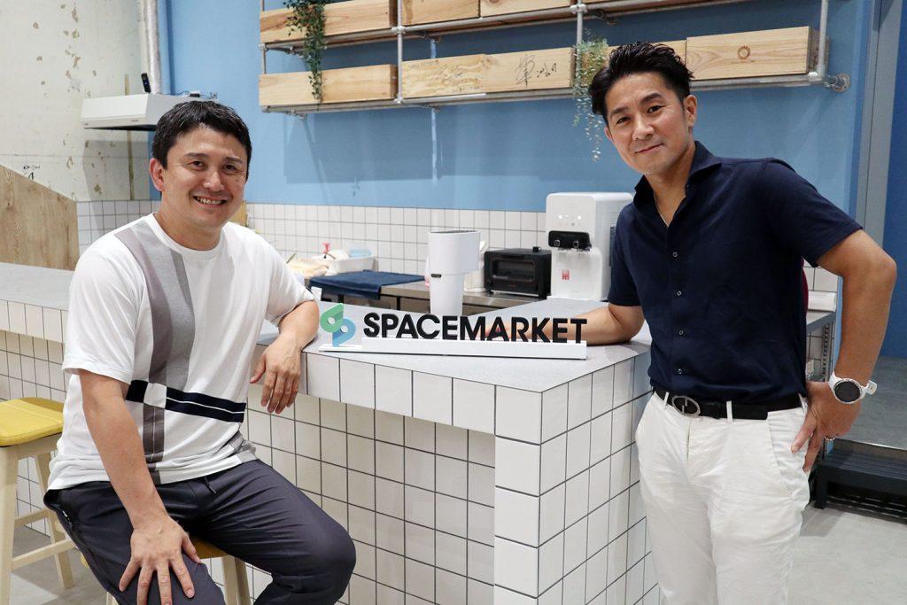 株式会社スペースマーケット 代表取締役社長 重松 大輔さんと東日本電信電話株式会社 渡辺 文隆さん