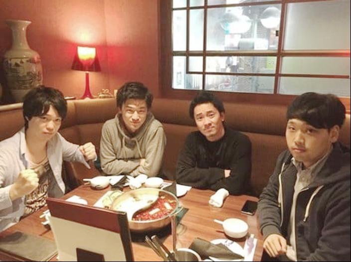 社員4名だった創業当初(左から副社長の長澤さん、吉川さん、代表の宮下さん、執行役員の長谷川さん)